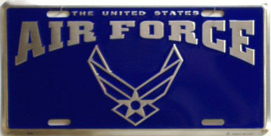 Photo of AIR FORCE LICENSE PLATE, NEW DESIGN FOR CAR TRUCK OR WALL