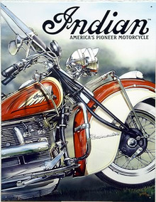 INDIAN PIONEER MOTORCYCLE SIGN