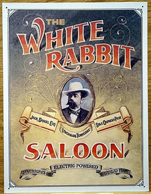 JACK DANIELS WHITE RABBIT WHISKEY SIGN