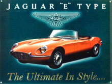JAGUAR E TYPE ENAMEL SIGN