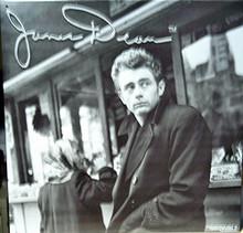 JAMES DEAN IN COAT SIGN