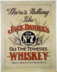 J.D. LIKE NOTHING ELSE WHISKEY SIGN