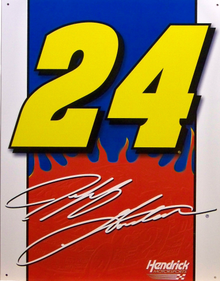 JEFF GORDON #24 SIGN NASCAR