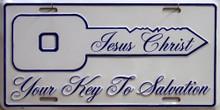 JESUS KEY TO SALVATION LICENSE PLATE