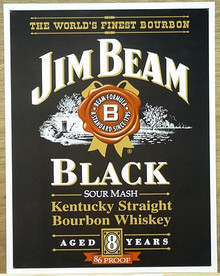 JIM BEAM BLACK LABEL WHISKEY SIGN