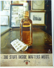 JIM BEAM - STUFF INSIDE WHISKEY SIGN