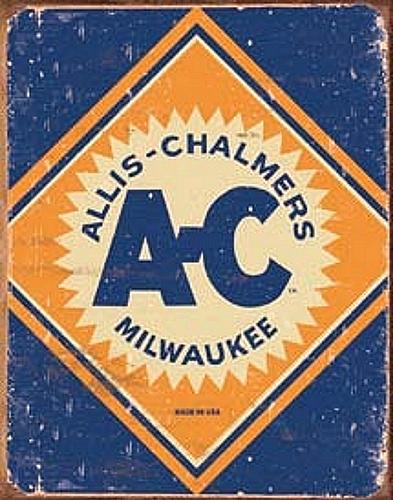 Allis Chalmers Tractor retro vintage metal sign