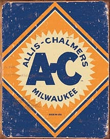 Photo of ALLIS CHALMERS LOGO TRACTOR SIGN, GREAT FOR THE ALLIC CHALMERS FAN'S COLLECTON