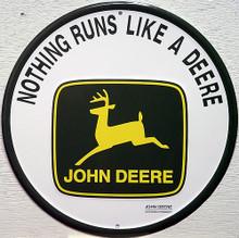 JOHN DEERE ROUND SIGN  TRACTOR SIGN