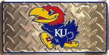KANSAS JAYHAWKS COLLEGE LICENSE PLATE