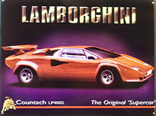LAMBORGINI ENAMEL SIGN