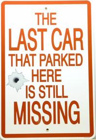 LAST CAR (LARGE) PORCELIN SIGN