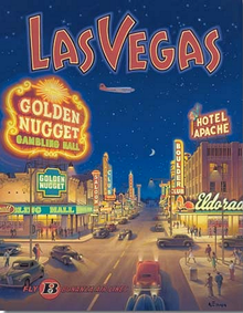 LAS VEGAS RETRO SIGN GREAT COLOR BRIGHT DETAILS THIS SIGN IS OUT OF PRINT WE HAVE ONLY ONE LEFT