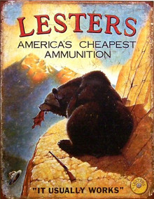 LESTER'S AMMO SIGN