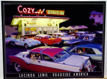 LEWIS - COZY DRIVE-IN CAR SIGN