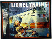 LIONEL 1935 COVER MODEL TRAIN SIGN OUT OF PRINT, ONLY TWO LEFT