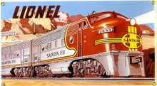 """14/"""" Round Santa Fe Chief Metal Tin Sign Emboss Wall Plaque"""