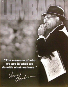 LOMBARDI - MEASURE OF A MAN FOOTBALL SIGN
