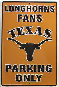 LONGHORNS FANS COLLEGE SIGN