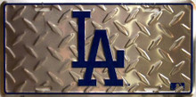 LOS ANGELES DODGERS BASEBALL DIAMOND PLATE LICENSE PLATE