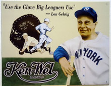 LOU GEHRIG KENWEL GLOVES BASEBALL SIGN