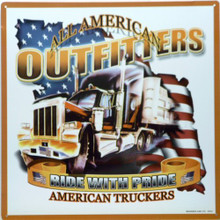 Photo of AMERICAN TRUCKERS THE BIG RIG SIGN  THESE PORCELAIN SIGNS ARE MADE FROM A TURN OF THE CENTURY PROCESS WHICH MAKES THEM LAST A LONG, LONG TIME