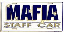 MAFFIA STAFF CAR LICENSE PLATE