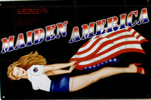 MAIDEN AMERICA NOSE ART SIGN