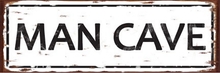 MAN CAVE MEDIUM ENAMEL SIGN