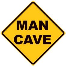 MAN CAVE DIAMOND SIGN