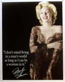 MARILYN  A MANS WORLD SIGN