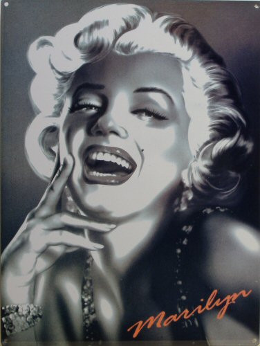 MARILYN CLOSE UP ENAMEL SIGN