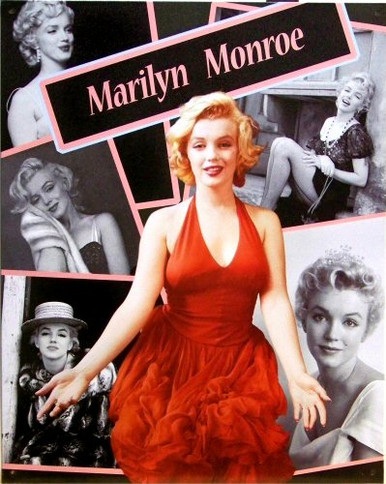 MARILYN COLLAGE (COLOR) SIGN
