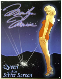 MARILYN QUEEN OF SCREEN SIGN