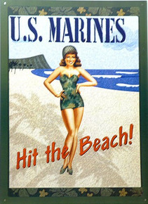 MARINES, POSTER GIRL SIGN