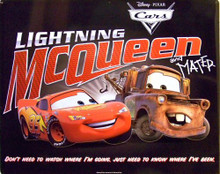 McQUEEN & MATER CARS SIGN