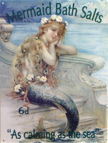 MERMAID BATH SALTS ENAMEL SIGN