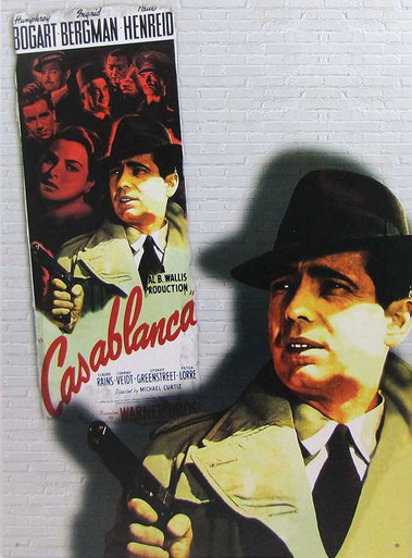 "VINTAGE CASABLANCA SIGN, OUT OF PRINT,  WE HAVE A NUMBER IN STOCK,  MEASURES 12  1/2"" X 16"" WITH HOLES FOR EASY MOUNTING"
