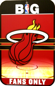 MIAMI HEAT BASKETBALL SIGN