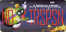 """VIN THE MARTIAN LICENSE PLATE  """"NO TRSPSN""""  MEASURES 12"""" X 6""""  WITH SLOTS FOR EASY MOUNTING"""
