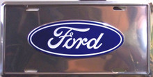 "FORD LICENSE METAL PLATE MEASURES 12"" X 6"" WITH SLOTS FOR EASY MOUNTING"