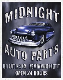 MIDNIGHT AUTO PARTS SIGN