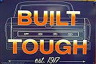 "FORD TOUGH TIN SIGN HAS HOLES IN EACH CORNER FOR EASY MOUNTING  MEASURES 17  3/4""  X  11  13/16"""