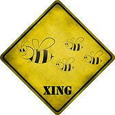 """ALUMINUM SIGN MEASURES  16  1/2"""" x 16  1/2"""" Diagonally, each side measures 12"""" with hole(s) for easy mounting."""