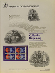 """PANEL # 46, U.S. COMMERATIVE PANEL CONTRIBUTORS TO THE CAUSE, ISSUED 3/25/1975 SCOTT # 1559-1562 PRINTED ON HEAVY PAPER MEASURING 8  1/2""""  X  11  1/4"""" WITH 4 DIFFERENT CONTRIBUTORS TO THE CAUSE,  10 CENT STAMPS PANELS ISSUED BY U.S. BUREAU OF ENGRAVING REPRESENT MANY HISTORICAL EVENTS IN OUR COUNTRY PLUS CULTURAL, WILDLIFE, FLORAL, MUSICAL, MOVIES AND COUNTLESS OTHER SUBJECTS, GREAT FOR  COLLECTORS AND ENTHUSIAST OF A WIDE VARIETY OF INTEREST. GREAT TO FRAME FOR GIFTS! UP TO A DOZEN CAN BE SHIPPED USING PRIORITY MAIL FLAT RATE ENVELOPE, FOR THE PRICE OF ONE (REFUND GIVEN (IF APPLICABLE) AFTER PANELS ARE SHIPPED TAKES 3-4 DAYS FOR REFUND TO REACH YOUR CARD) OR YOU CAN SEND ONE OR MORE, FIRST CLASS (NOT INSURED) FOR LESS, YOUR CHOICE."""