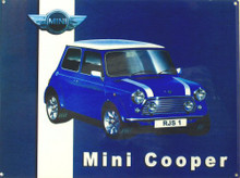MINI COOPER ENAMEL SIGN