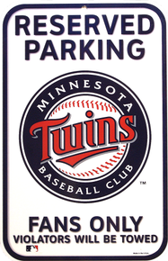 MINNESOTA TWINS BASEBALL RESERVED PARKING SIGN
