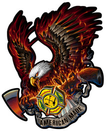 WILDLANDS FIREFIGHTING EAGLE Sublimation Process Heavy Metal Sign S/O*
