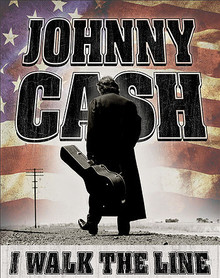"""JOHNNY CASH TIN SIGN MEASURES 12 1/2""""  X 16"""" WITH HOLES IN EACH CORNER FOR EASY MOUNTING"""