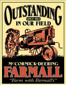 """FARMALL TRACTOR SIGN MEASURES  12 1/2"""" X 16""""  WITH HOLES FOR EASY MOUNTING"""